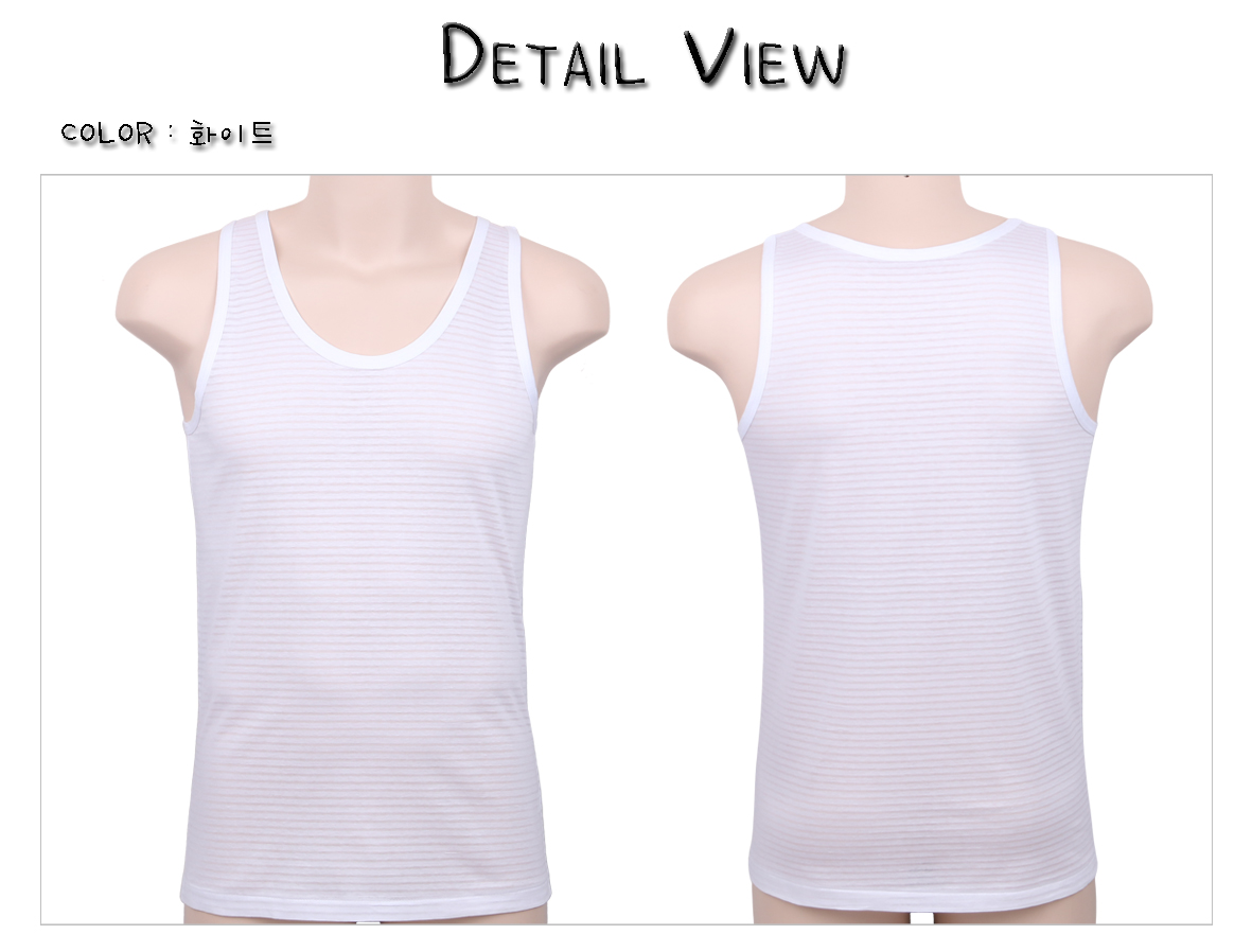 [ POLMIT ] Man Sleeveless Shirt Clear Color 3Set